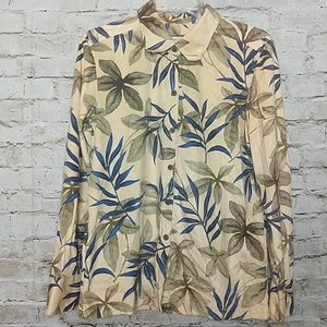 Jamaica Bay Shirt Button Up Size Small Yellow